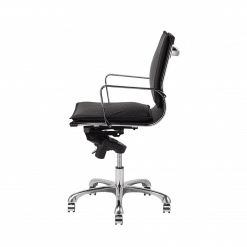 carlo office chair black low back 002