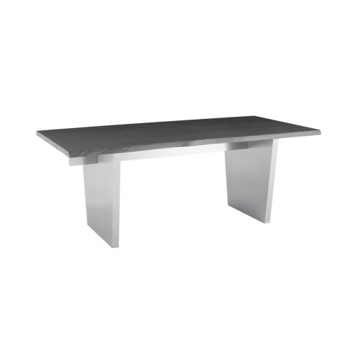 dining room aiden oxidized grey and light stainless steel