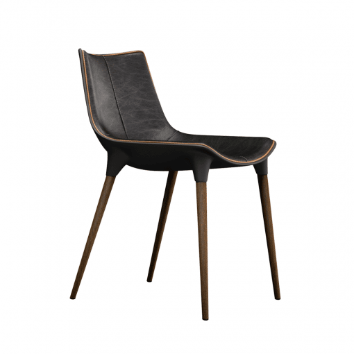 dining room langham chair in aged onyx