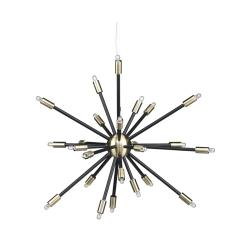 lighting sergei pendant antique brass