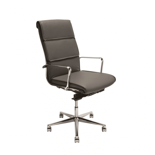 lucia high back office chair grey