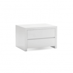 bedroom blanche 2 drawer night stand white