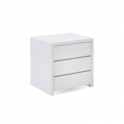 bedroom blanche 3 drawer nightstand white