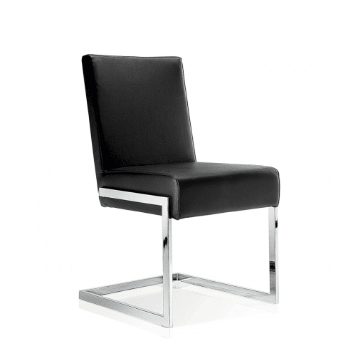 dining room abby chair black leatherette