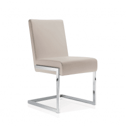 dining room abby chair dove grey leatherette