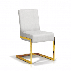 dining room abby chair vellum and gold