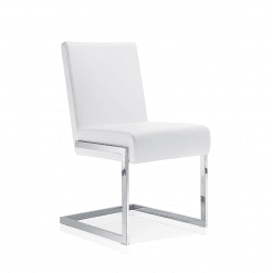 dining room abby chair white leatherette