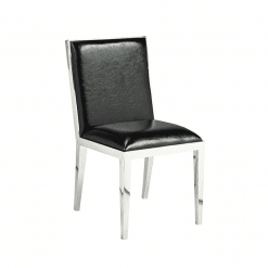 dining room valor chair black leatherette