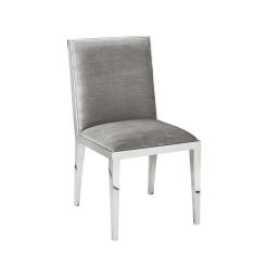 dining room valor chair grey velvet