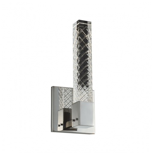 lighting apollo 1 light wall sconce brushed chrome
