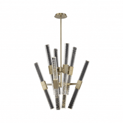 lighting apollo 16 light chandelier brushed champagne gold