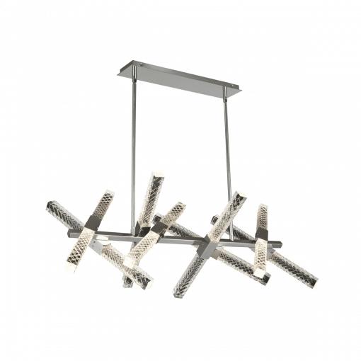 lighting apollo 16 light island chandelier brushed chrome