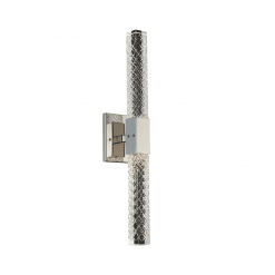 lighting apollo 2 light wall sconce brushed chrome