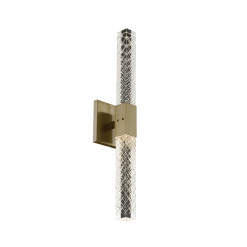 lighting apollo 2 light wall sconce brushed champagne gold