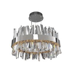 lighting glacier 25 inch pendant in chrome