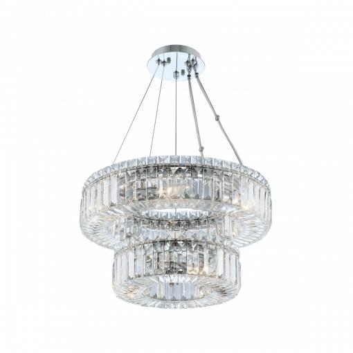 lighting rondelle 18 inch 2 tier pendant