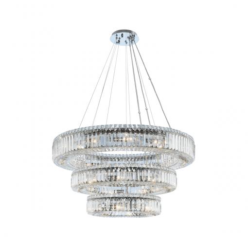 lighting rondelle 36 inch 3 tier pendant