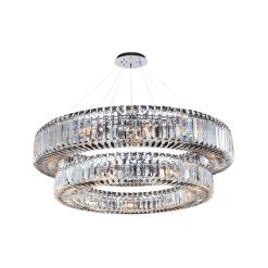 lighting rondelle 36 inch 2 tier pendant