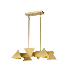 lighting avante chandelier 24 inch brass