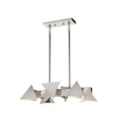 lighting avante chandelier 24 inch polished nickel