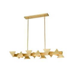 lighting avante chandelier 50 inch brass