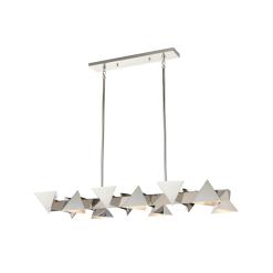 lighting avante chandelier 50 inch polished nickel