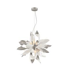 lighting bloom 16 inch pendant silver