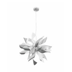 lighting bloom 24 inch pendant silver