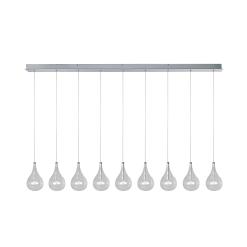 lighting larmes 9 light linear pendant