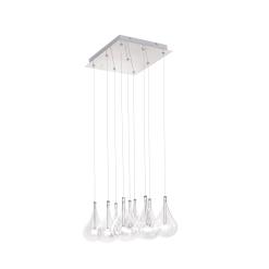 lighting larmes 9 light square pendant