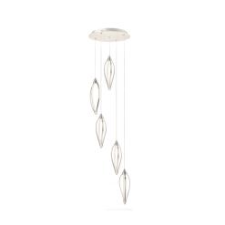 lighting meridian 5 light cluster nickel
