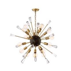 lighting muse 35 inch chandelier brass