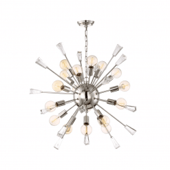 lighting muse 35 inch chandelier chrome