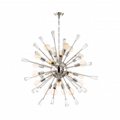 lighting muse 40 inch chandelier chrome