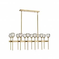 lighting parisian 12 light linear chandelier brass