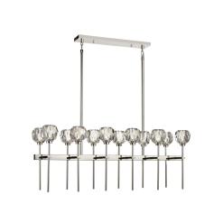 lighting parisian 12 light linear chandelier nickel