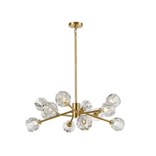 lighting parisian 35 inch chandelier brass