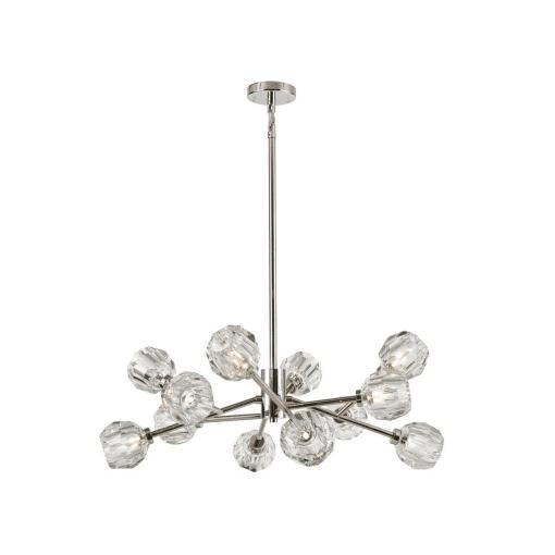 lighting parisian 35 inch chandelier nickel