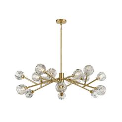 lighting parisian 48 inch chandelier brass