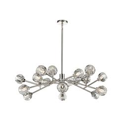 lighting parisian 48 inch chandelier nickel