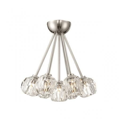 lighting parisian 7 light flush mount nickel