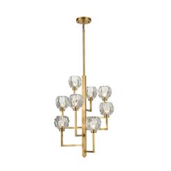lighting parisian 8 light chandelier brass