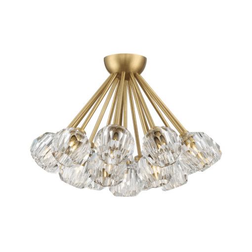 lighting parisian cluster flush mount brass