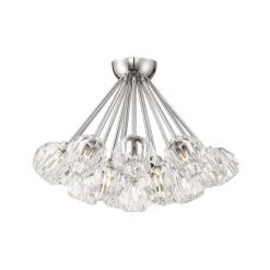 lighting parisian cluster flush mount nickel
