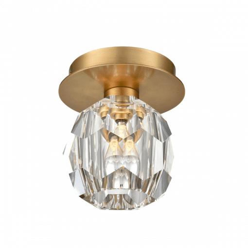 lighting parisian flush mount brass