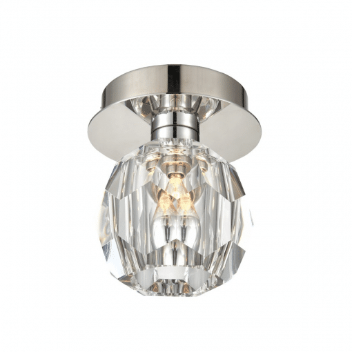 lighting parisian flush mount nickel
