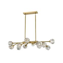 lighting parisian linear chandelier brass