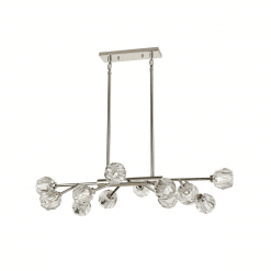 lighting parisian linear chandelier nickel