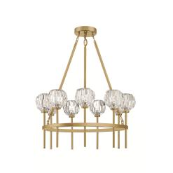 lighting parisian round chandelier brass