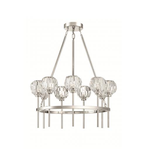lighting parisian round chandelier nickel
